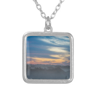 Through The Fog Silver Plated Necklace