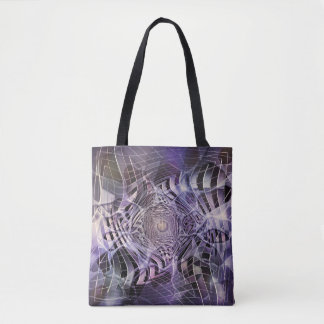 THROUGH THE LILAC LOOKING GLASS TOTE BAG