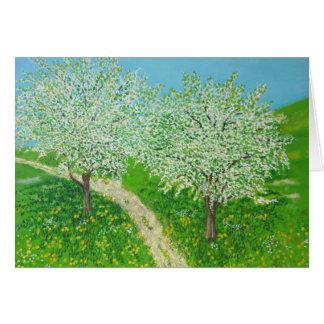 Through The Meadow - From Original Watercolour Art Card