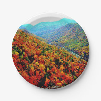 Through The Mountains Paper Plate