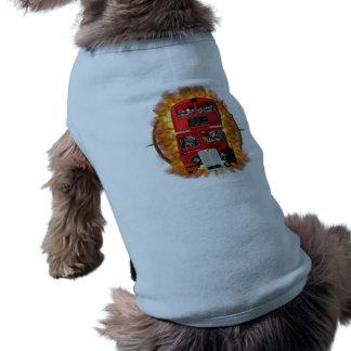 Through the Portal - On Fire Sleeveless Dog Shirt