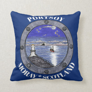 Through the Porthole Scenic Throw Pillow
