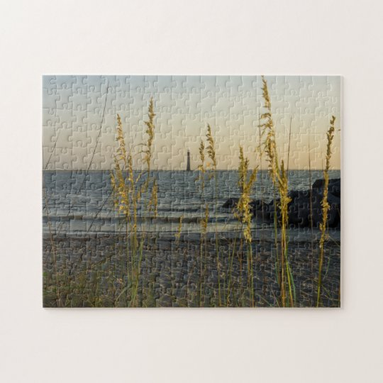 Through The Sea Oats Jigsaw Puzzle