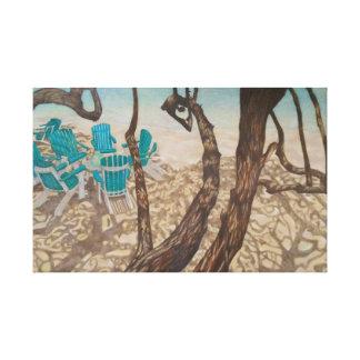 """Through the Trees, St John"" Canvas Print"