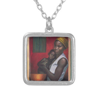 Through the Window 1992 Square Pendant Necklace