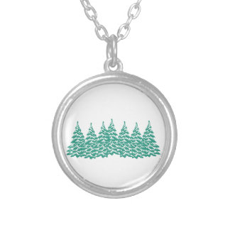 Through the Woods Silver Plated Necklace