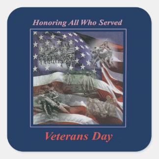 Through Time Veterans Day Sticker