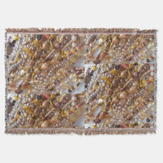 Throw Blanket- Natural Earth Tones Beads Print