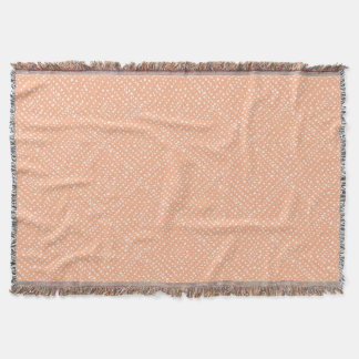 Throw Blanket - Peach and White Pattern