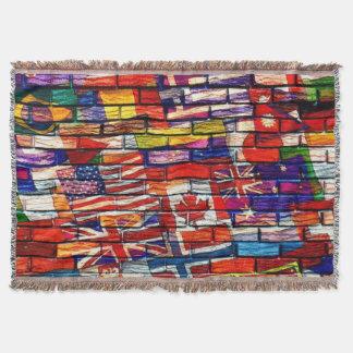 Throw Blanket/ World Flags