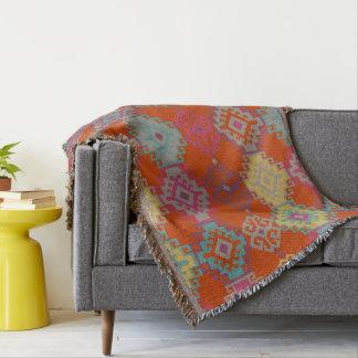 Throw Blankets.  Kilim Pattern Native Instinct