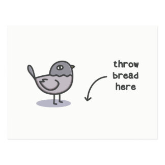 Throw Bread Here Postcard