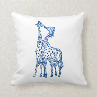 Throw Cushion Giraffes Art