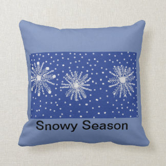 throw cushion snowflake design