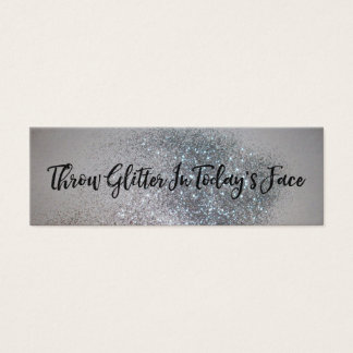 Throw Glitter Today's Face Acts of Kindness Card