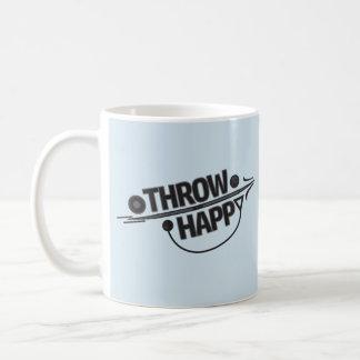 Throw Happy Shot Put, Discus Thrower Gift Coffee Mug
