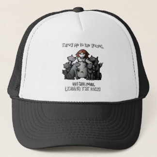 """Throw Me To The Wolves"" Trucker Hat"