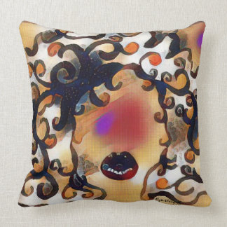 "Throw Pillow 20"" x 20"", ""Big Hair Diva"""