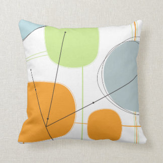 Throw Pillow - Abstract 1950s Inspired Atomic Art