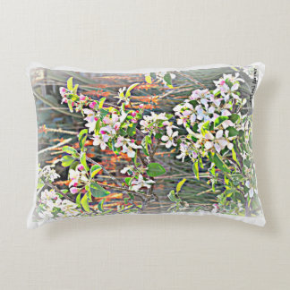 Throw Pillow Apple Tree Blossoms in Frost