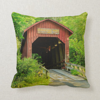 Throw Pillow - Bean Blossom Covered Bridge