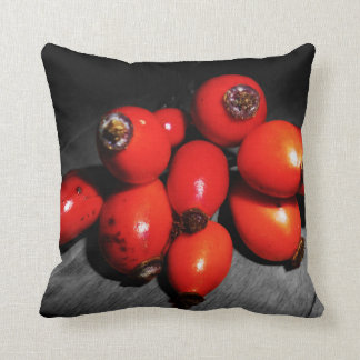 Throw pillow Black & white rose hip Throw Cushion