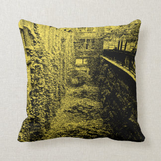 Throw Pillow - Brick & Ivy Scene - Choose a Color