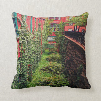 Throw Pillow - Brick & Ivy Scene - Full Color