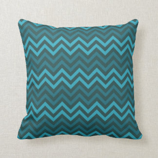 Throw Pillow - Chevron Pattern (teal)