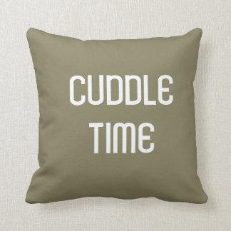 Throw Pillow Cuddle Time