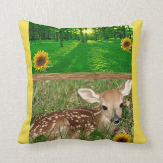 Throw Pillow Deer