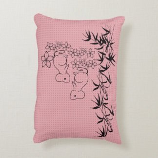 Throw Pillow-Flowers and Little Mice Decorative Cushion