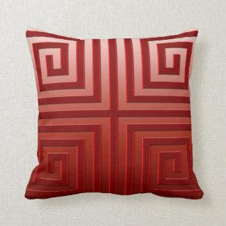 Throw Pillow -Graphic Design, burgundy color