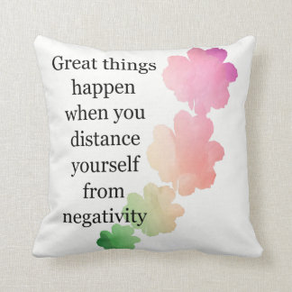 Throw Pillow Great Things