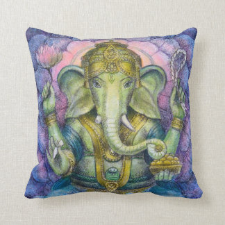 Throw Pillow Hindu Elephant Ganesha Spiritual Art
