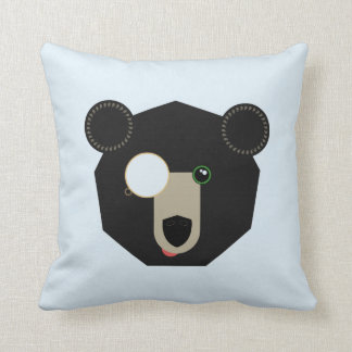 Throw Pillow - Monocle Bear - Geometric