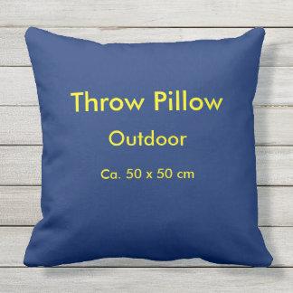 Throw Pillow Outdoor uni Blue