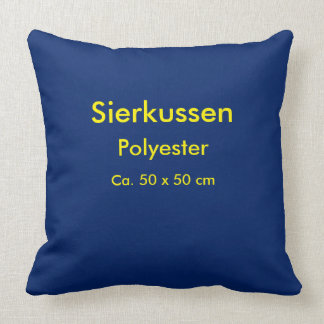Throw Pillow Polyester unig Blue