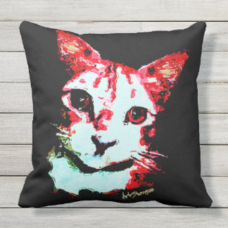 Throw Pillow Red Cat (of 4 colors)