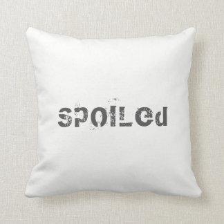 Throw Pillow Spoiled