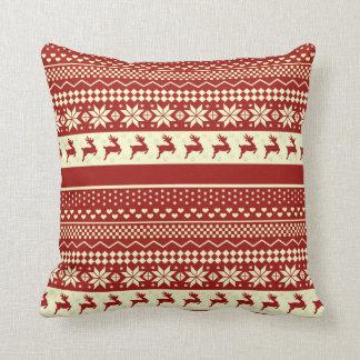 Throw Pillow - Ugly Christmas Sweater