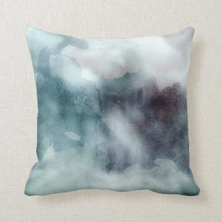 Throw Pillow - Watercolor Teals