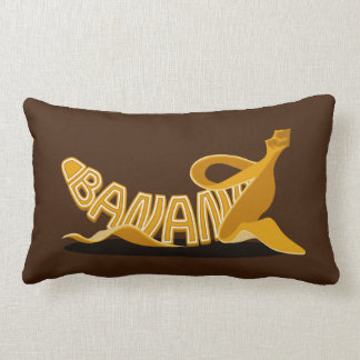 Throw Pillow with Banana Typo Cushions
