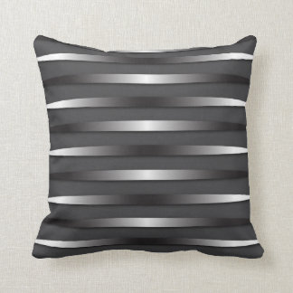 "Throw Pillow with ""Brushed Steel"" design"