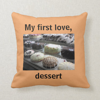 Throw Pillow with Delicious Desserts
