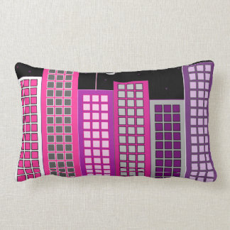 Throw Pillow with Night City
