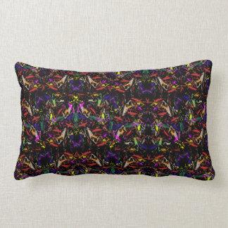 "Throw Pillow with ""Praying Mantis Amok"" Design"