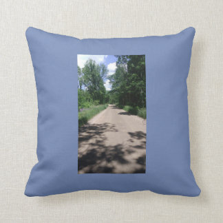throw pillow with road on it