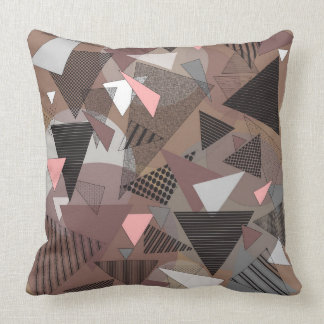 """Throw Pillow with """"Triangles Sierra"""" design"""