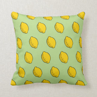Throw pillow: yellow & lime green pop art lemons cushion